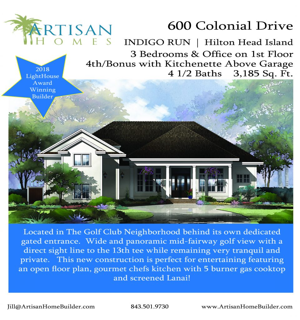 600 Colonial Sales Sheet Rendering